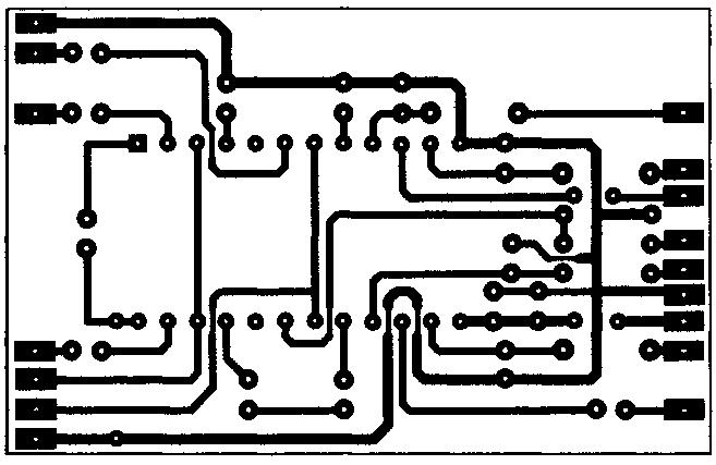 Изображение печатной платы для стереорегулятора-темброблока на микросхеме LM1040