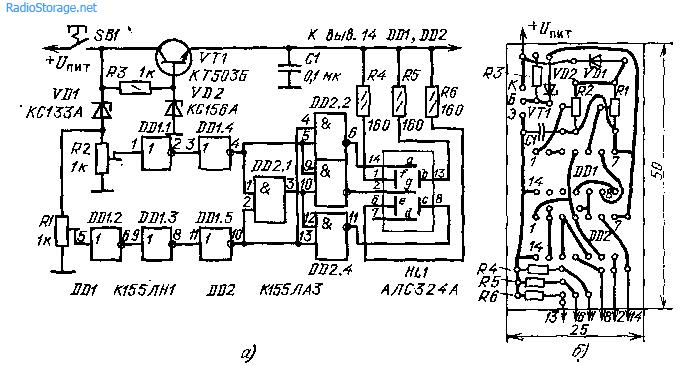 Индикатор напряжения на АЛС324