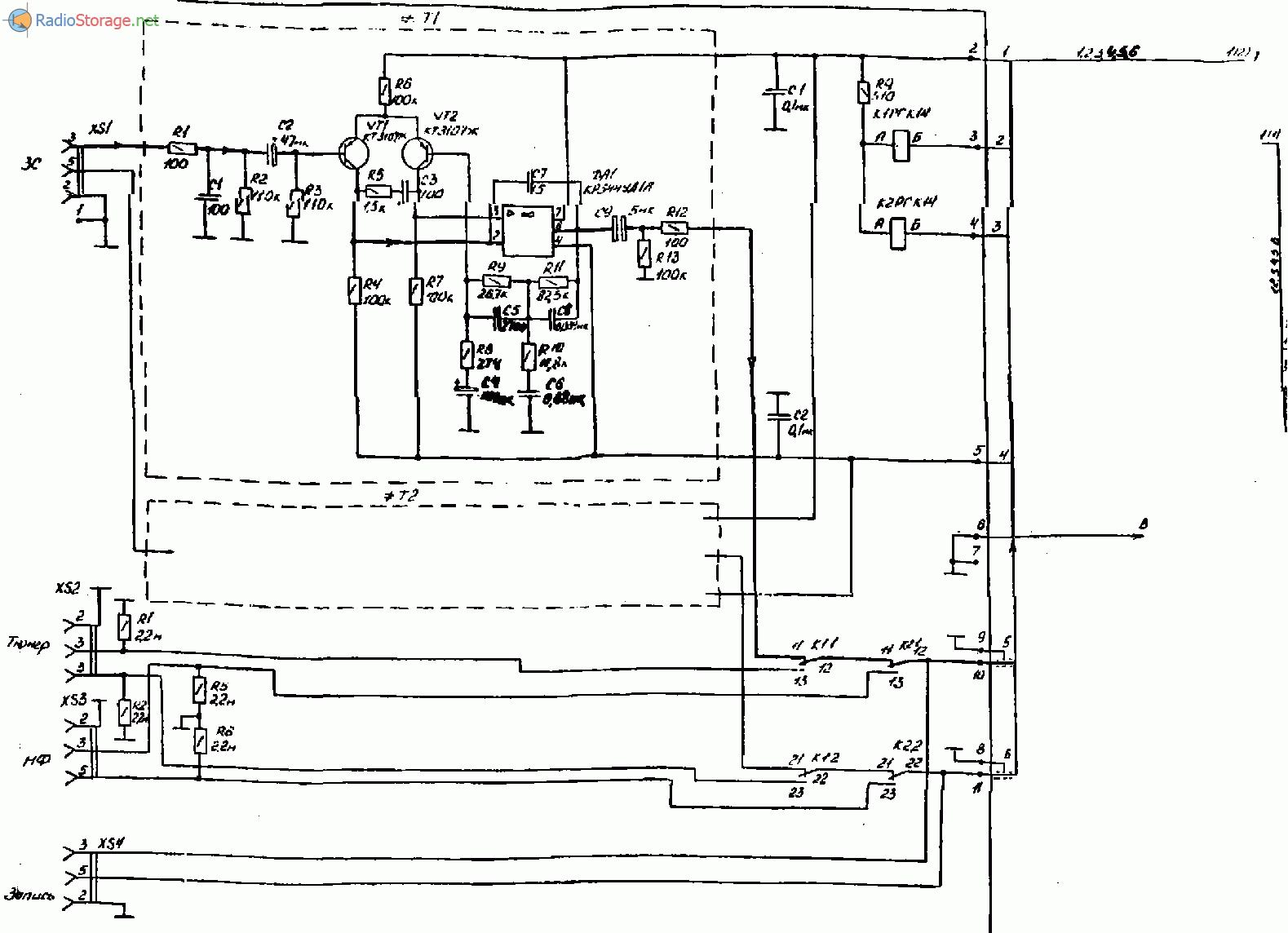 Усилитель Лорта 75У-101С, схема